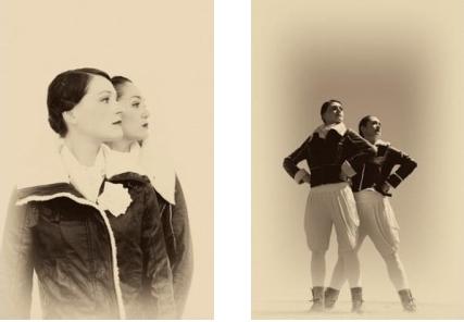 Alison Plevery and Liz Lea, 'InFlight'. Photos: Lorna Sim
