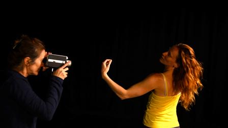 Sue Healey filming Sarah Jayne Howard for 'Virtuosi'