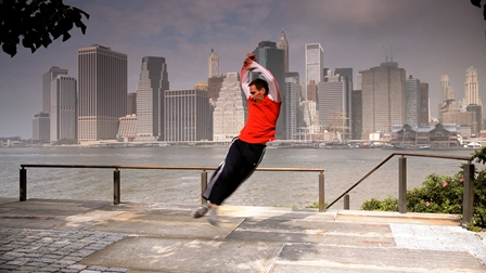 Jeremy Nelson in 'Virtuosi', filmed in New York