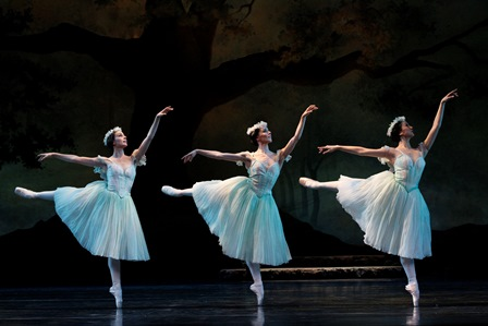 Dimity Azoury, Amy Harris, and Natasha Kusen in 'La Sylphide'. Photo: © Jeff Busby, 2013