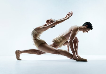Natasha Kusen and Andrew Killian in 'Petite Mort'. Photo Paul Scala. Courtesy the Australian Ballet
