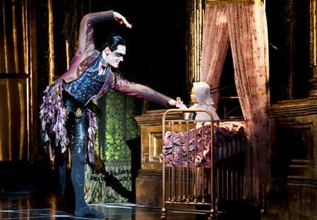Count Lilac and the baby Aurora in Matthew Bourne's 'Sleeping Beauty'. Courtesy Sharmill Films