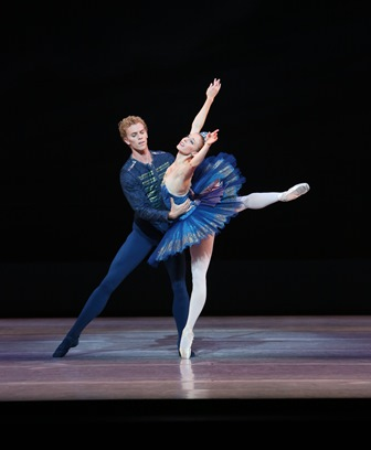 Adam Bull and Lana Jones in 'Ballet Imperial', 2014. Photo courtesy of the Australian Ballet