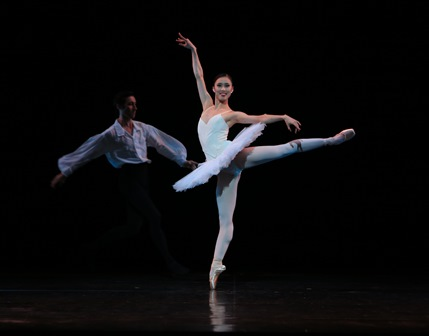 Ako Kondo in 'Suite en blanc', the Australian Ballet, 2014. Photo courtesy of the Australian Ballet