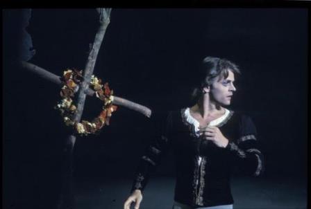 Mikhail Baryshnikov as Albrecht in 'Giselle', Ballet Victoria 1975. Photo: Walter Stringer