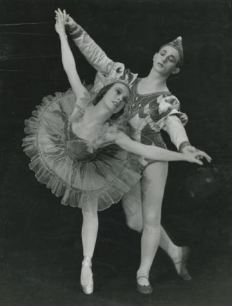 Edna Busse and Martin Rubinstein in the Blue Bird pas de deux, Borovanksy Ballet 1940s. Photo: Phil Ward