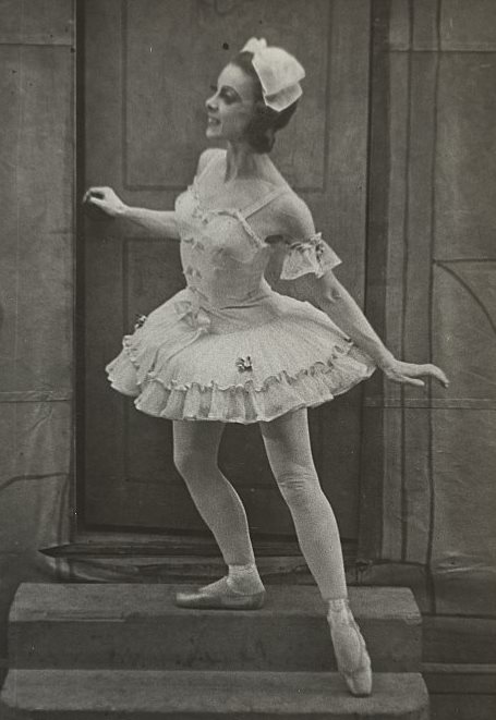 Edna Busse as Swanilda in 'Coppelia', Borovanksy Ballet, 1946.
