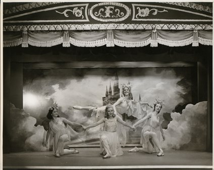 Cloudland Ballet from 'Jack and the beanstalk', Sydney, 1958. Photographer unknown