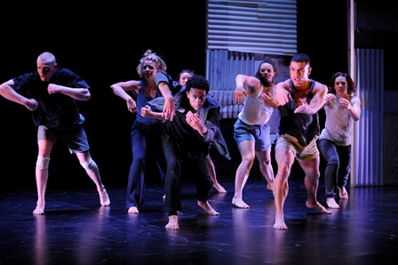 Buzz Dance Theatre in 'Look the other way', Australian Dance Award for Outstanding Achievement in Youth or Community Dance 2014. Photo: Ashley de Prazer