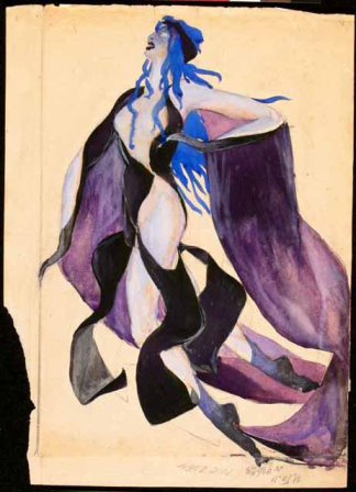 Kas'ian Goleizovsky, Costume design, 'The Etude', 1921, (c) A.A. Bakhrushin State Central Theatre Museum