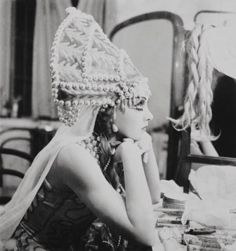 Irina Baronova in costume for 'Thamar', 1935