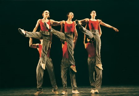 Dorcas Walters, Mikaela Polley, Grace Maduell and partners in 'In the Upper Room', Birmingham Royal Ballet. Photo Bill Cooper (choreography Twyla Tharp; © 1992 Twyla Tharp)