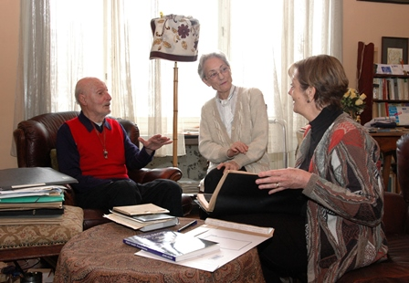 With Paul Grinwis and Christiane Hubert, Gent, January 2005