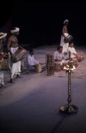 Chitrasena musicians, 1963 Australian tour. Photo Walter Stringer