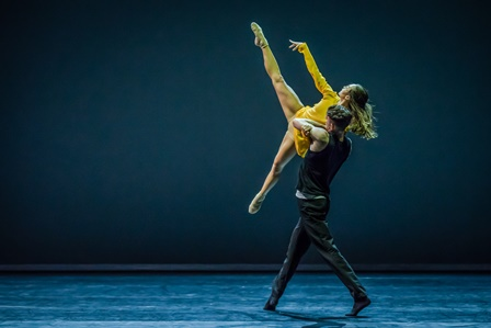 Sydney Dance Company's 'Quintett' featuring Chloe Yeong and Sam Young-Wright. Photo: Peter Greig