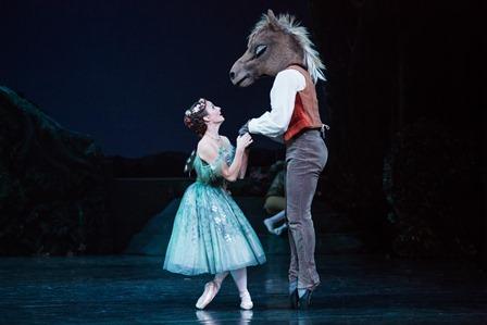 Madeline Eastoe as Titania and Joseph Chapman as Bottom in Frederick Ashton's 'The Dream', the Australian Ballet, 2015. Photo: Daniel Boud