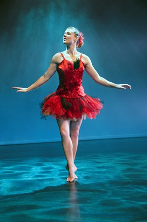 Miranda Wheen as the Firebird in 'L'. Photo: © Barbie Robinson
