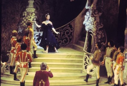 Marilyn Jones in 'The Merry Widow', the Australian Ballet, 1975. Photo: Walter Stringer