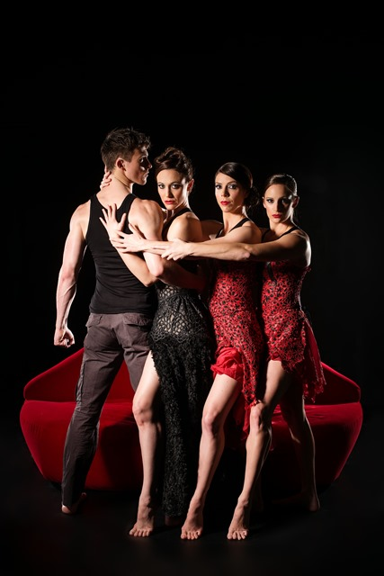 Jack Ziesing, Elise May, Riannon McLean, Samantha Mitchell in Natalie Weir's 'Carmen Sweet'. Photo Dylan Evans
