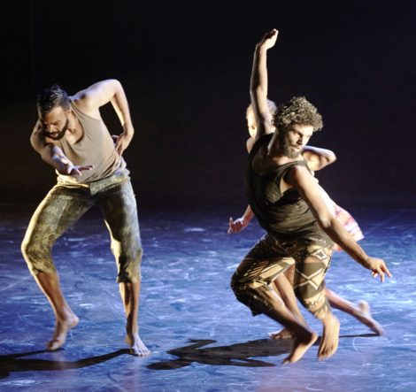 Luke Currie-Richardson and Beau Dean Riley Smith in 'Nyapanyapa' from 'OUR land people stories'. Photo: Edward Mulvihill