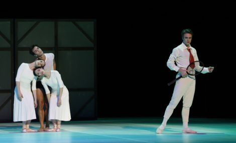 Leanne Stojmenov, Alexandre Riabko, Ako Kondo and Christopher Rodgers-Wilson in 'Nijinsky', the Australian Ballet 2016. Photo Jeff Busby