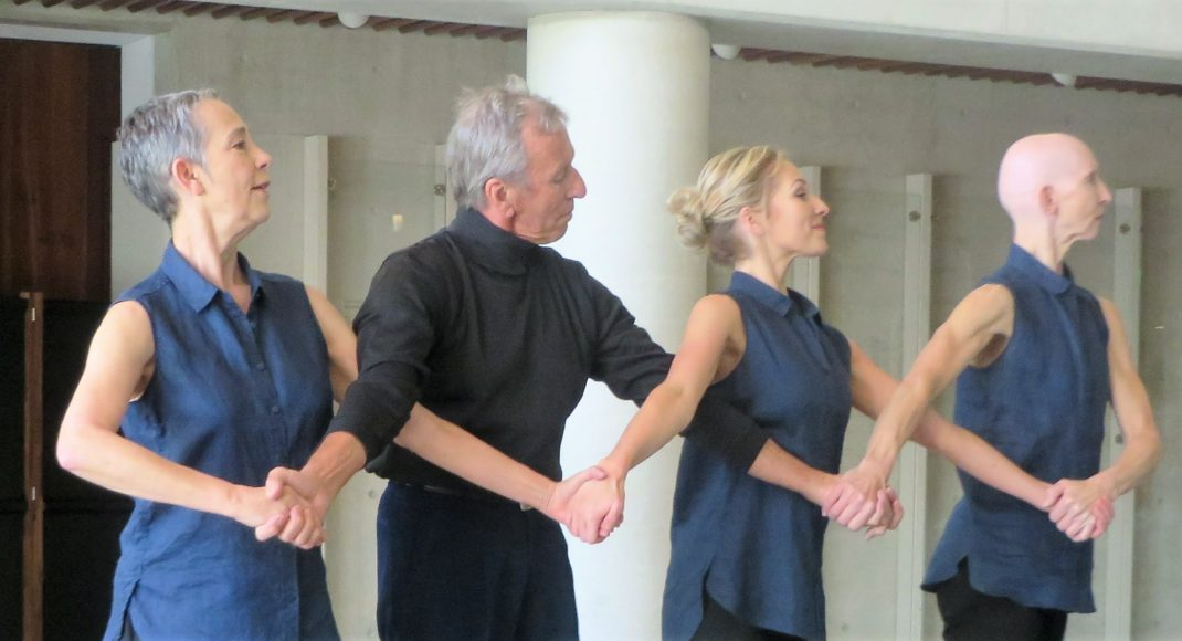 (l-r) Julia Cotton, Patrick-Harding-Irmer, Elle Cahill and Ance Frankenhaueser in 'Quartet for David', 2016.