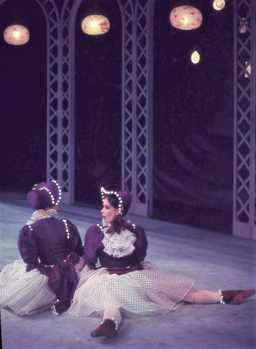 Scene from 'Les Patineurs', Royal Ballet, melbourne 1958. Photo: Walter Stringer/National Library of Australia