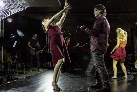 Alison Plevey (left) in 'Strings Attached', Australian Dance Party 2016.