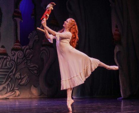 Mia Heathcote as Clara in 'The Nutcracker', Queensland Ballet, 2016. Photo: © David James McCarthy