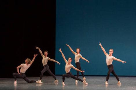 Artists of Paris Opera Ballet in 'Violin concerto', 2016: Photo: Sebastien Mathe/Opera national de Pari