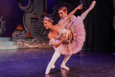 Yanela Pinera and Alexander Idaszak as the Sugar Plum Fairy and the Prince in 'The Nutcracker', Queensland Ballet, 2016. Photo: © David James McCarthy