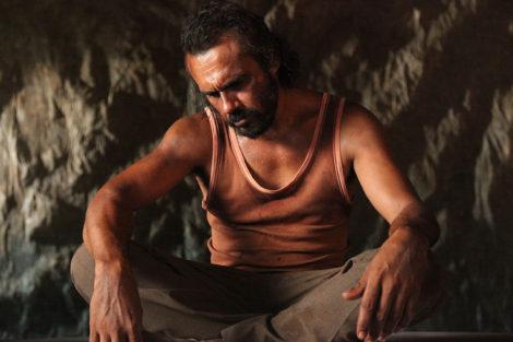 Aaron Pedersen as Suicide Man in 'Spear'. Photo: © Giovanni de Santolo