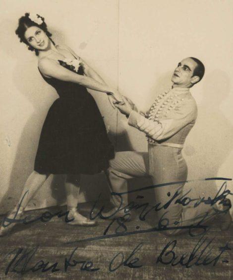 Valentina Blinova and Leon Woizikowsky in 'Le beau Danube',1936