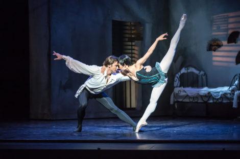 Mayu Tanigaito and Daniel Gaudiello in 'Carmen'. Royal New Zealand Ballet. Photo: © Stephen A'Court
