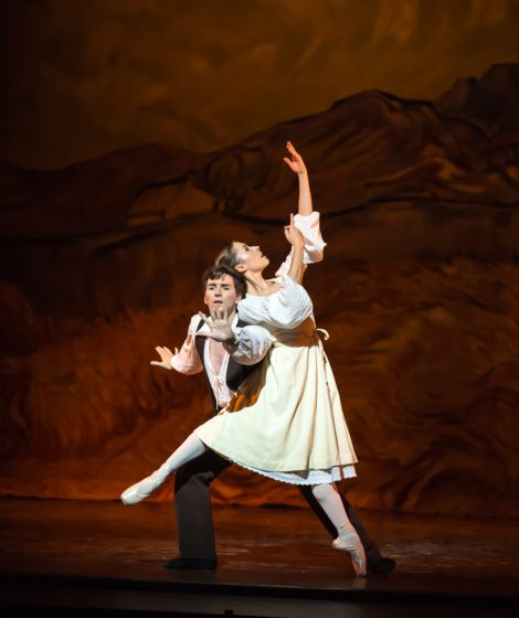 Shaun James Kelly and Madeleine Graham in L'Arlésienne. Royal New Zealand Ballet. Photo: ©Stephen A'Court