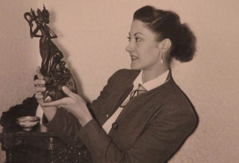Portrait of Valrene Tweedie ca. 1952. Photographer unknown