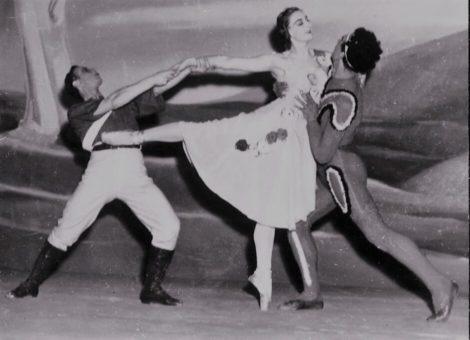 Martin Rubinstein, Peggy Sager and Vassilie Trunoff in 'Terra Australis'. Borovansky Ballet, 1946.