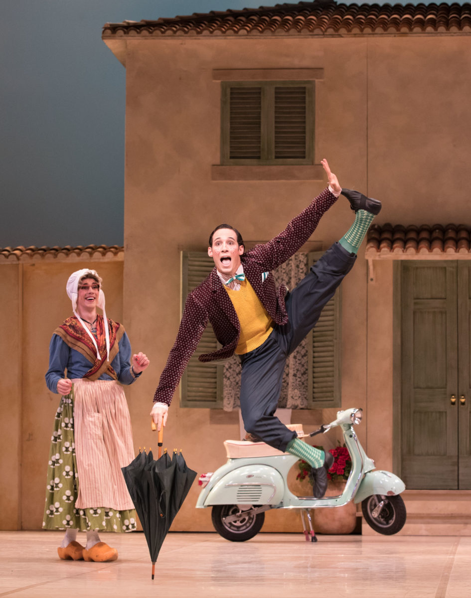 Jack Lister as the Widow Simone and Camilo Ramos as Alain in 'La Fille mal gardee. Photo: David Kelly