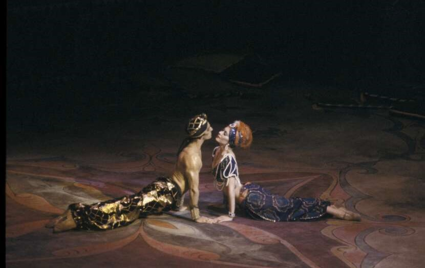 Gary Norman and Sheree da Costa in Scheherazade. The Australian Ballet 1980. Photo Walter Stringer