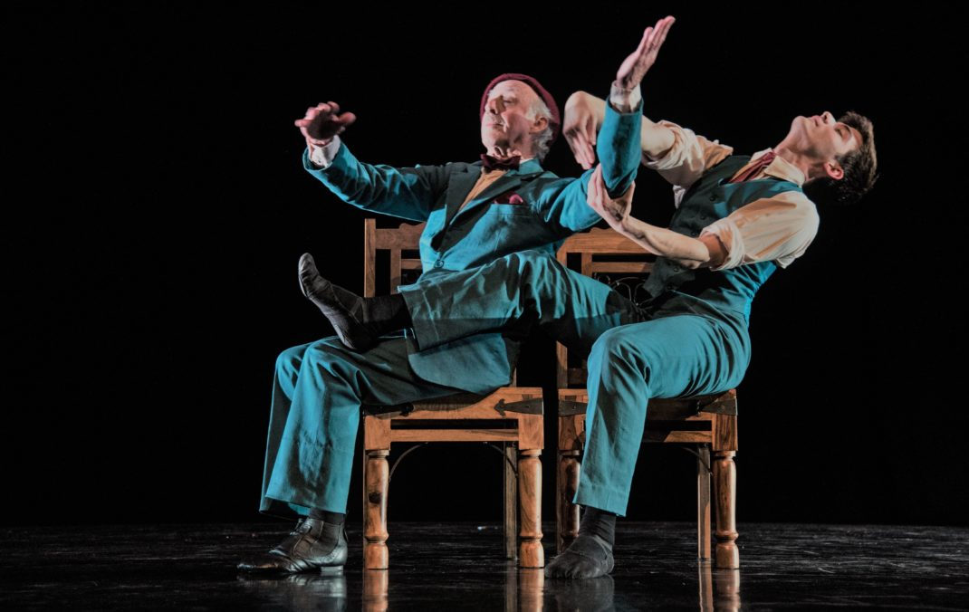 Sir Jon Trimmer and William Fitzgerald in 'Lark' from 'whY Cromozone'. Tempo Dance Festival, 2017. Photo: © Amanda Billing
