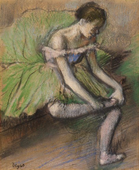 Edgar Hilaire Germain Degas, The Green Dress, about 1896-1901