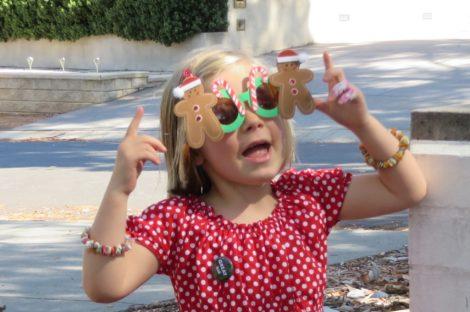 Clara's Christmas sunglasses