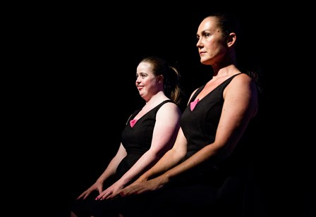 Katie Senior and Liz Lea in That extra 'some, Belconnen Arts Centre, 2017. Photo © Lorna Sim