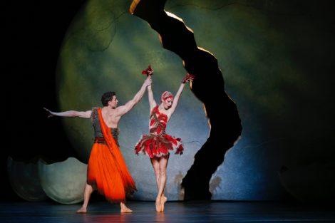 Kevin Jackson and Lana Jones in 'Firebird.' The Australian Ballet, 2018. Photo: Jeff Busby