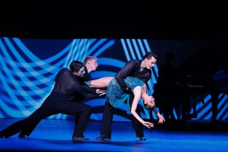Valerie Tereshchenko and artists of the Australian Ballet in 'Grand', 2018. Photo: Jeff Busby