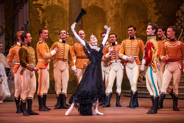 Lana Jones and artists of the Australian Ballet in ''The Merry Widow', 2018. Photo: © Daniel Boud