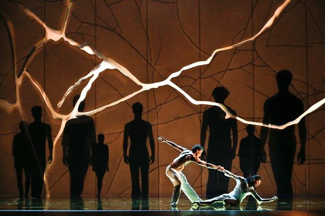 Kevin Jackson and Leanne Stojmenov in 'Aurum'. The Australian Ballet, 2018. Photo: Jeff Busby