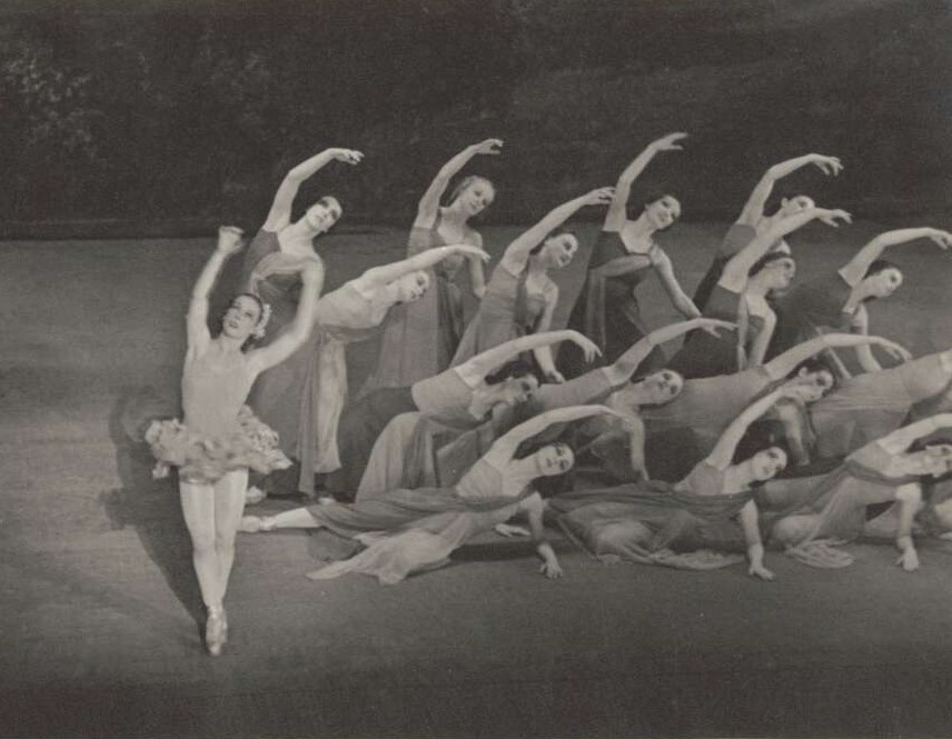 Edna Busse and dancers of the Borovansky Ballet in 'Autumn Leaves', 1946. Photo Hugh P Hall