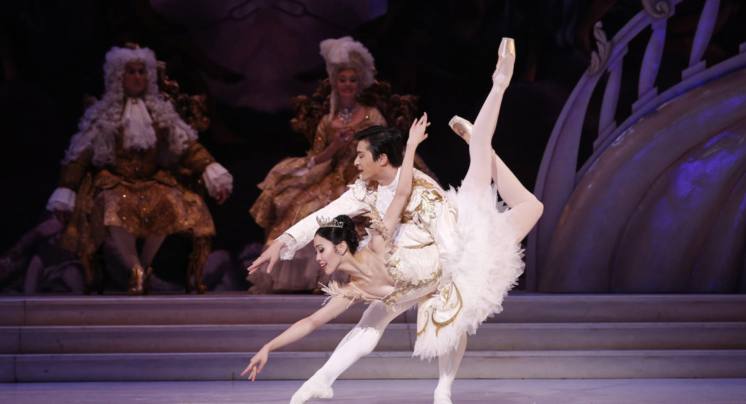 Australian Ballet dancers Ako Kondo and Chengwu Guo in 'The Sleeping Beauty'. Photo Jeff Busby