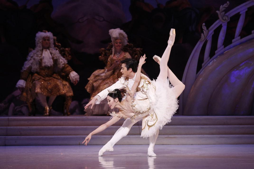 Australian Ballet dancers Ako Kondo and Chengwu Guo in 'The Sleeping Beauty'. Photo Jeff Busby